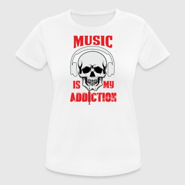 Music my Addiction - Women's Breathable T-Shirt