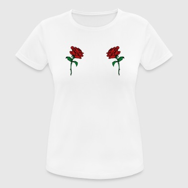 Rose Boobs Design - Trendy Rosen Brüste - Frauen T-Shirt atmungsaktiv