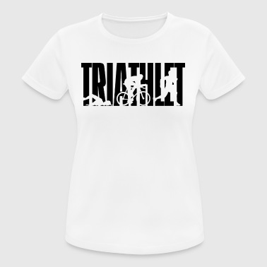 TRIATHLETE - triathlon - natation - vélo - course - T-shirt respirant Femme