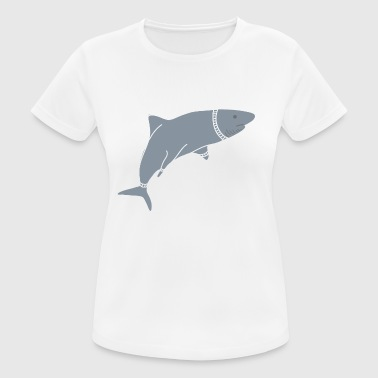 SPACE SHARK - Andningsaktiv T-shirt dam