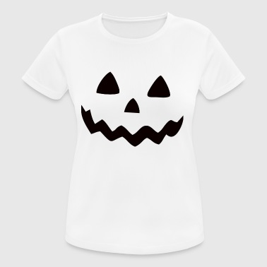 Halloween Pumpkin Smile - Frauen T-Shirt atmungsaktiv