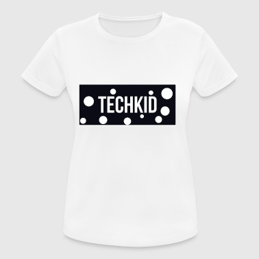 TechKid design - Pustende T-skjorte for kvinner