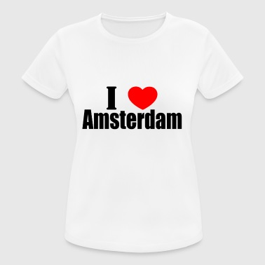I love amsterdam - Women's Breathable T-Shirt