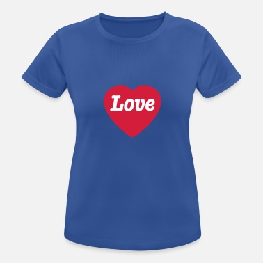 Love With Heart Heart with Love - Sport T-skjorte for kvinner