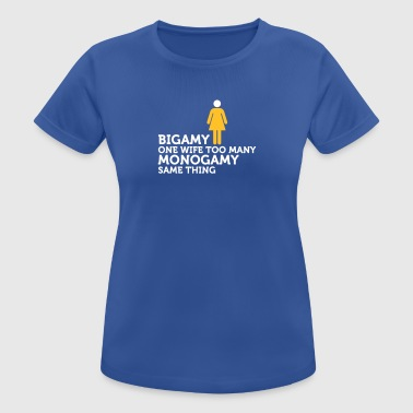 Monagamy - A Woman Too Much! - Women's Breathable T-Shirt