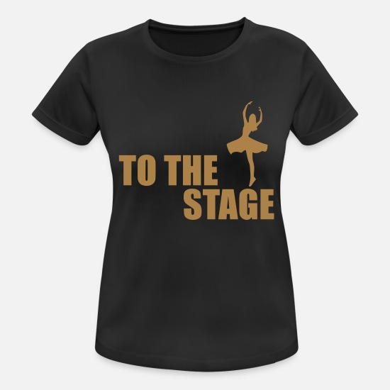 Dancing T-Shirts - to the stage - Women's Sport T-Shirt black