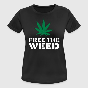Free The Weed Quote - vrouwen T-shirt ademend