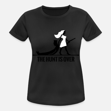 Vorbei The hunt is over JGA Junggesellenabschied Party - Frauen Sport T-Shirt