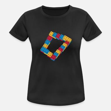 Téléphone optical illusion - endless stairway - T-shirt sport Femme