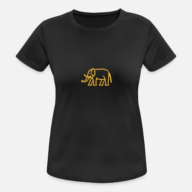Elfenben elephant - Sports T-shirt dame