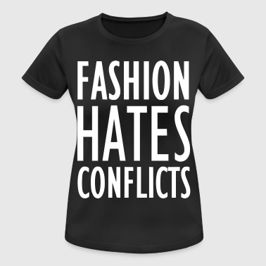 Conflict FASHION HATES CONFLICTS 2reborn - Women's Breathable T-Shirt