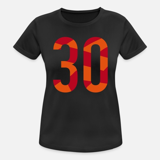 30th Birthday T-Shirts - 30th birthday - number in polygon design - Women's Sport T-Shirt black