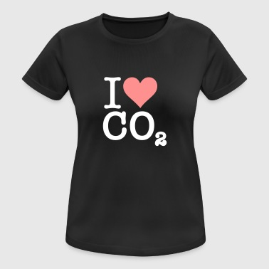 I Love CO2 - Women's Breathable T-Shirt