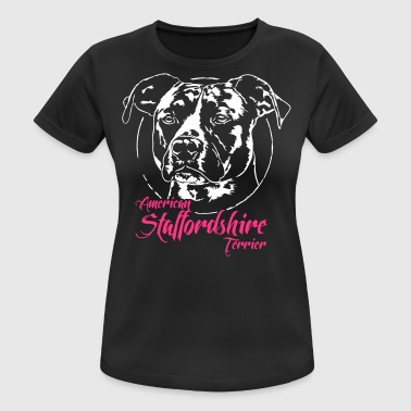 Staffordshire Terrier americano 2 - Camiseta mujer transpirable