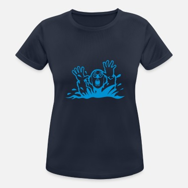 Drowning Drowning drawing character - Women's Sport T-Shirt