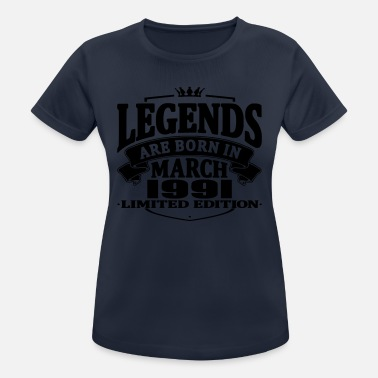 March 1991 Legends are born in march 1991 - Women's Breathable T-Shirt