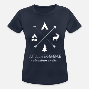 Reisen Outdoor Experience Adventure Awaits - Frauen T-Shirt atmungsaktiv