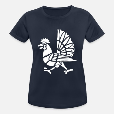 Cock Rooster Cock Roosters Gockel Gallus Chicken - Women's Breathable T-Shirt