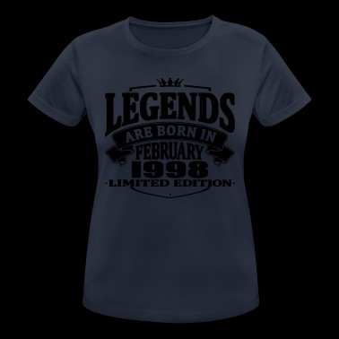 Legends are born in february 1998 - Women's Breathable T-Shirt