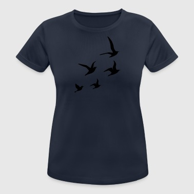 Flying Swallows - Frauen T-Shirt atmungsaktiv
