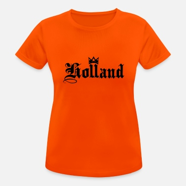 Koningsdag Holland with crown - Vrouwen sport T-shirt