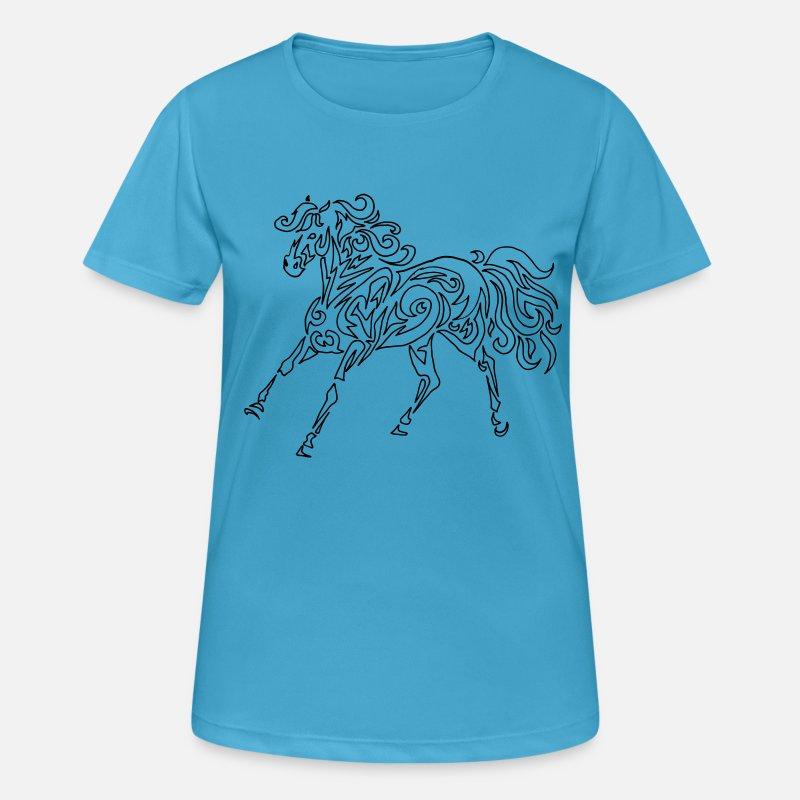 T-SHIRT CHEVAL  Poney Chevaux Horse Equitation Tribal Tattoo Tatouage Equestre