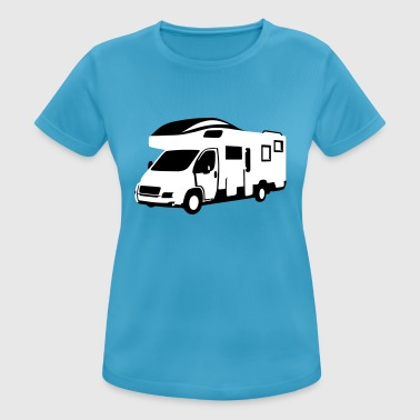 Camper, motor home - On the road - Women's Breathable T-Shirt