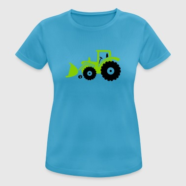 Tractor front loader Bulldog wheel loader with bucket - Camiseta mujer transpirable