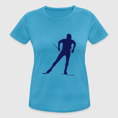 cross country skiing - skiing - ski - Women's Breathable T-Shirt