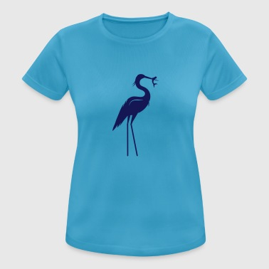 Heron with fish in its beak - Women's Breathable T-Shirt