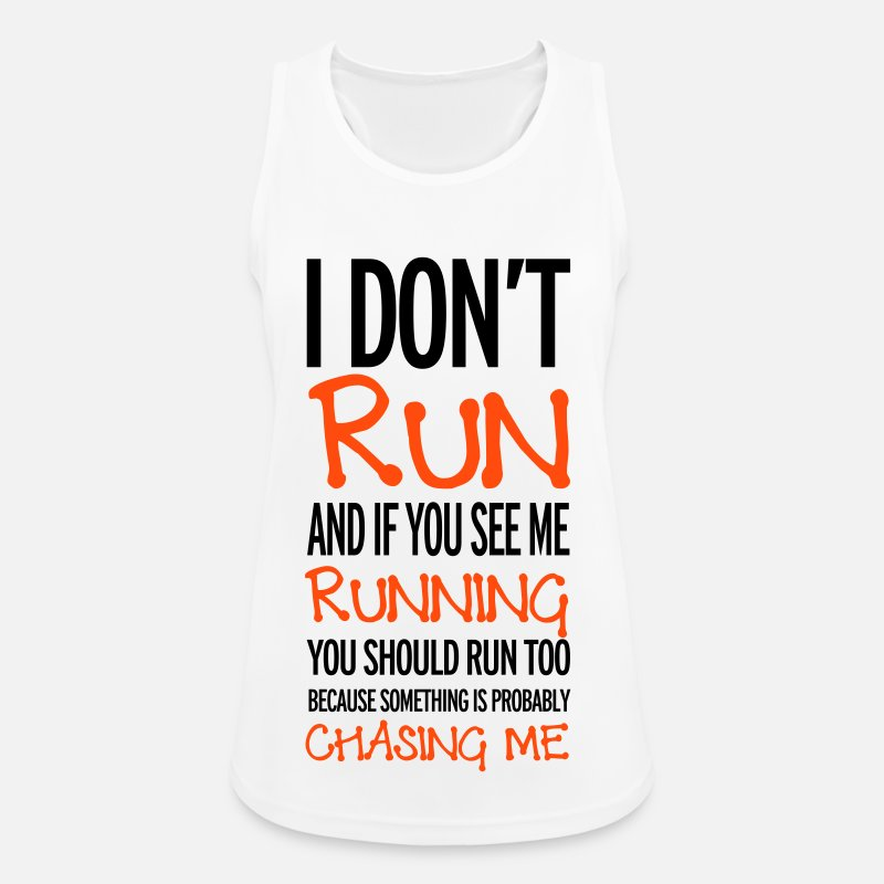 Running Tank Tops - Run - Women's Sport Tank Top white