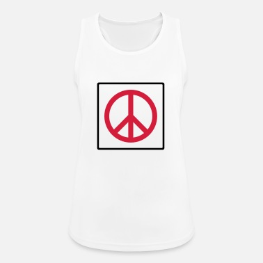 Quadrat Frieden im Quadrat / peace in square (2c) - Women's Sport Tank Top