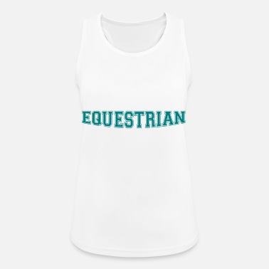 Writing Equestrian Writing - Débardeur sport Femme