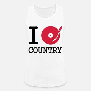 Country i dj / play / listen to country - Sports tanktop dame