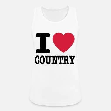 Country i love country / i heart country - Sports tanktop dame