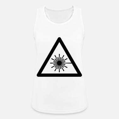 Uv Hazard Symbol - Laser Light - Women's Sport Tank Top