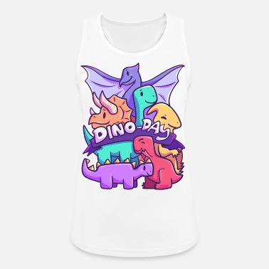 Carnivores Dinoday dinosaurs family animals children - Women's Sport Tank Top