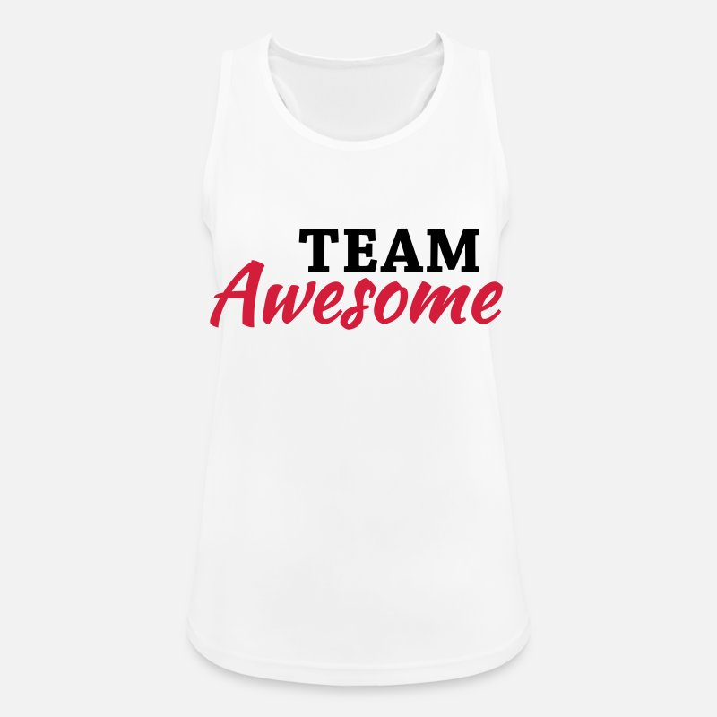 Awesome Tank Tops - Team Awesome - Women's Sport Tank Top white