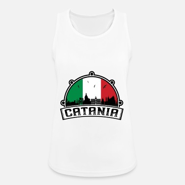 Catania Catania Italy Skyline Travel Souvenir Italian Flag - Women's Sport Tank Top