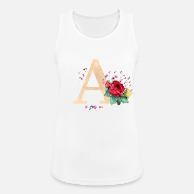 Initial Letter initial letter A initials roses - Women's Sport Tank Top