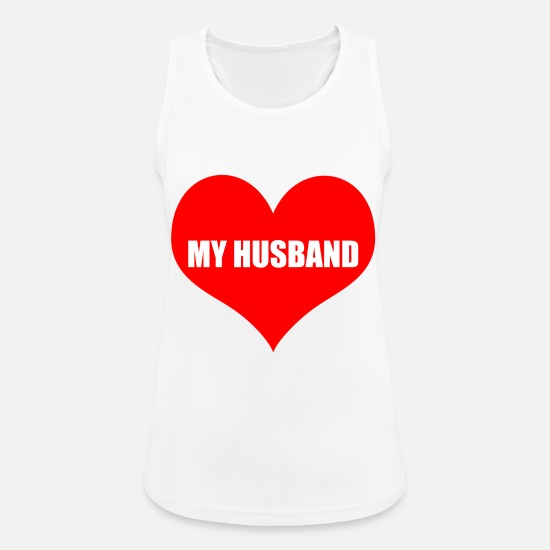 Love Tank Tops - husband - Women's Sport Tank Top white