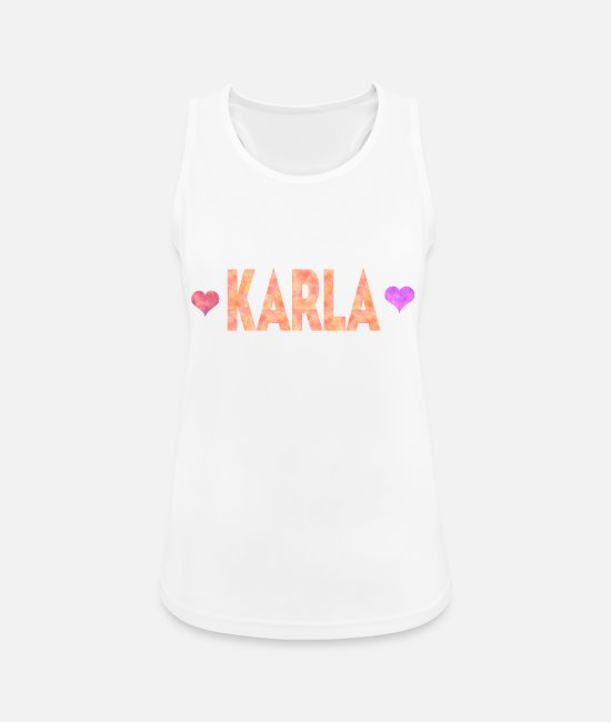 Karla Love Tank Tops - Karla - Women's Sport Tank Top white