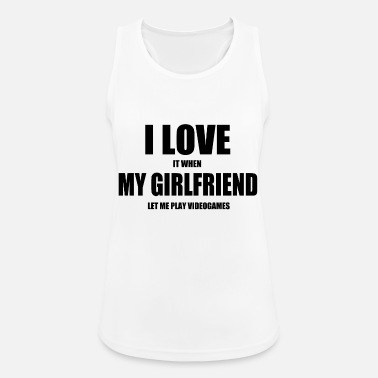 Video Game girlfriend video games nerd - Women's Sport Tank Top