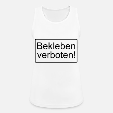 Prohibition Sticking prohibited! - Women's Breathable Tank Top