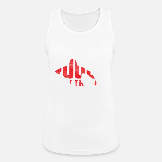 Rugby Tank Tops - Rugby is my therapy gift rugby player - Women's Sport Tank Top white