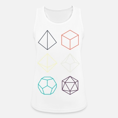 Dragons Minimal dnd (dungeons and dragons) dice - Women's Sport Tank Top