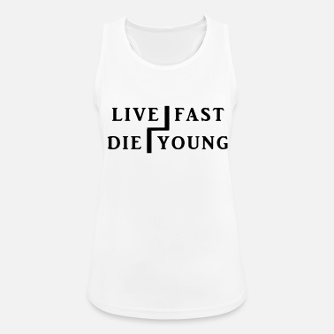 live fast die young - Frauen Sport Tanktop