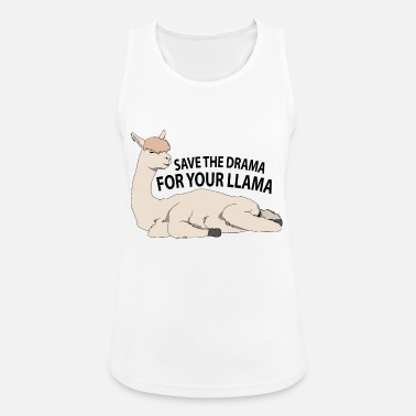 Lama Save your drama for the llama - Women's Sport Tank Top
