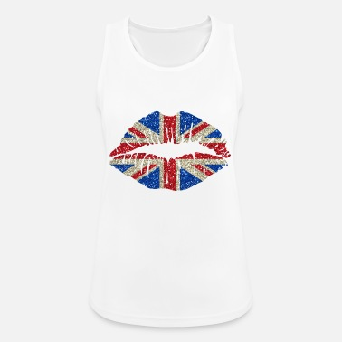 Union Jack Sexy lips Great Britain England Union Jack - Women's Sport Tank Top
