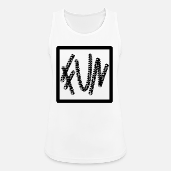 Good Mood Tank Tops - Fun fun font - Women's Sport Tank Top white